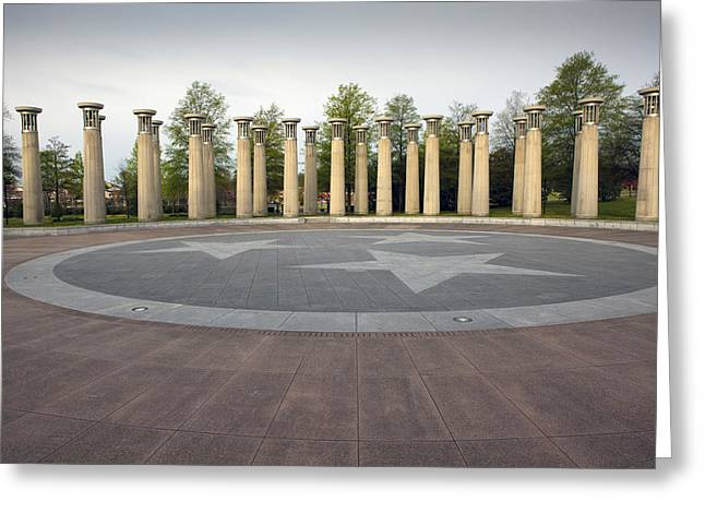 Bicentennial Capital Mall Park Greeting Cards - Nashville Greeting Card by Karen Cowled