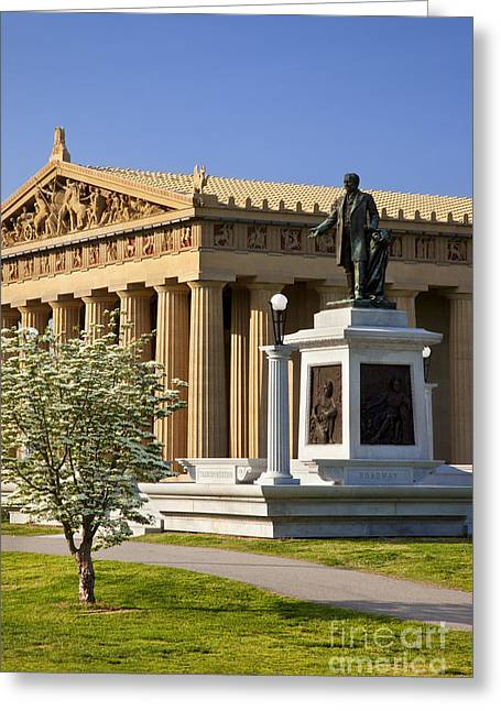 Nashville Tennessee Greeting Cards - Nashville Parthenon Greeting Card by Brian Jannsen