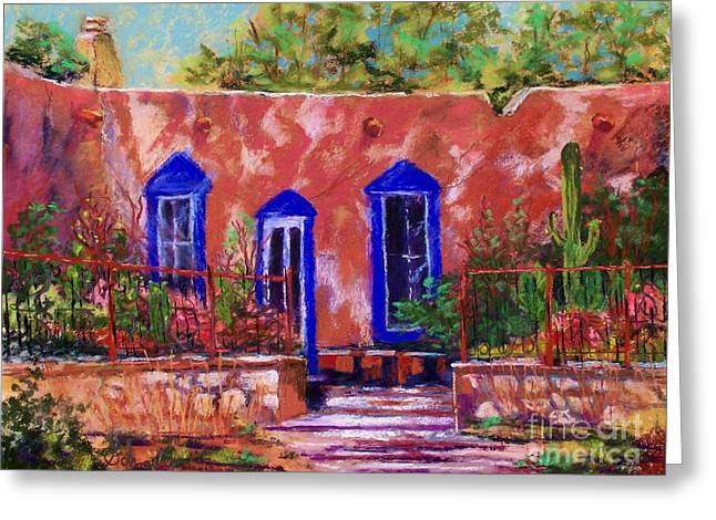 Iron Pastels Greeting Cards - New Mexico Garden Greeting Card by Bruce Schrader