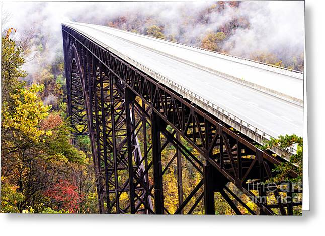 Fayette County Greeting Cards - New River Gorge Bridge Greeting Card by Thomas R Fletcher