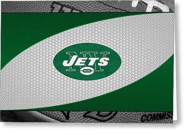 Jets Photographs Greeting Cards - New York Jets Greeting Card by Joe Hamilton
