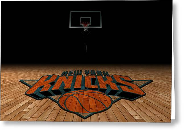 Recently Sold -  - Knicks Greeting Cards - New York Knicks Greeting Card by Joe Hamilton