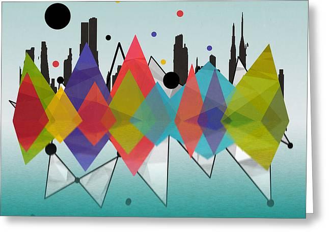 New York Greeting Card by Mark Ashkenazi