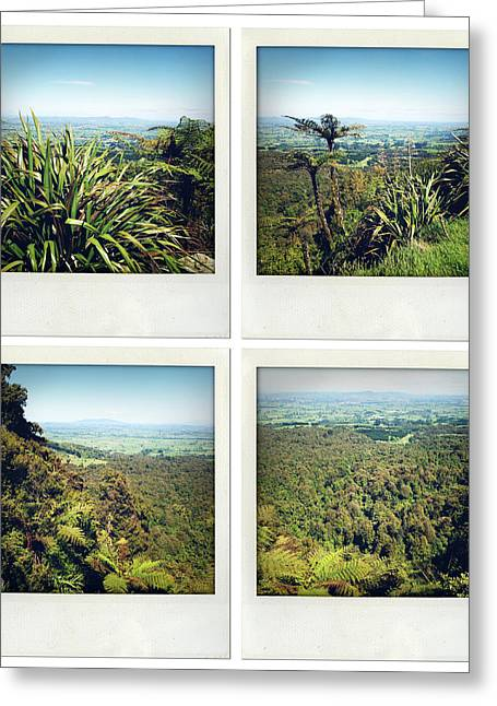 Greenery Greeting Cards - New Zealand Greeting Card by Les Cunliffe