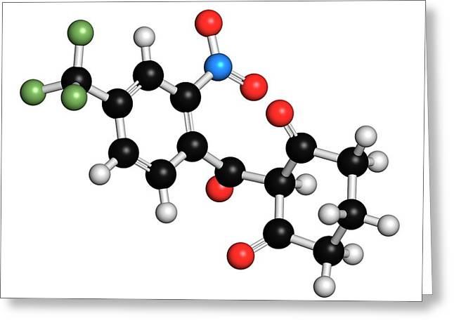 Nitisinone Drug Molecule Greeting Card by Molekuul