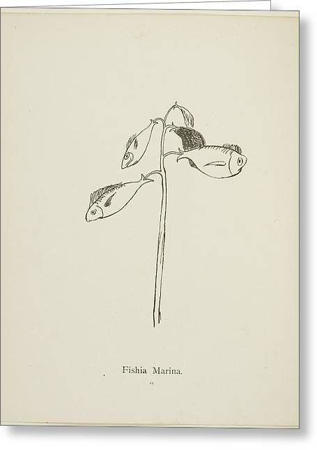 Nonsense Botany Collection By Edward Lear Greeting Card by British Library