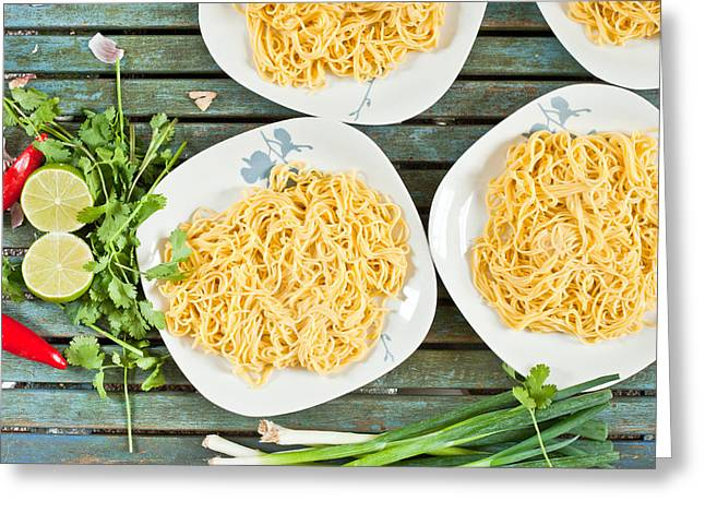 Noodles Greeting Card by Tom Gowanlock