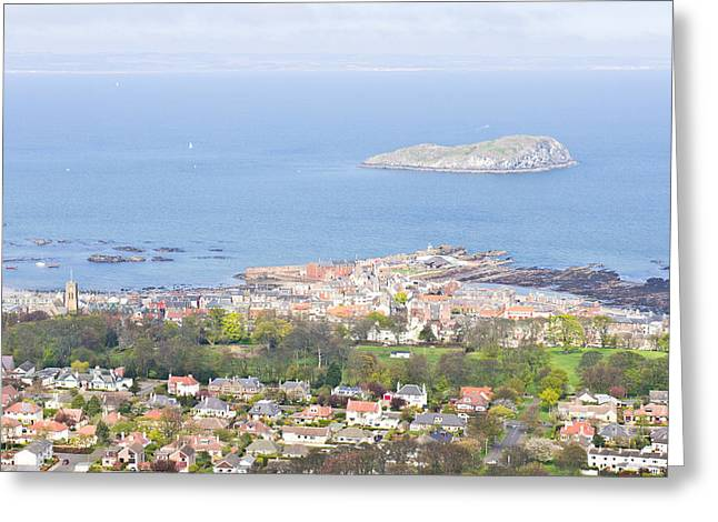 Small Towns Greeting Cards - North Berwick Greeting Card by Tom Gowanlock