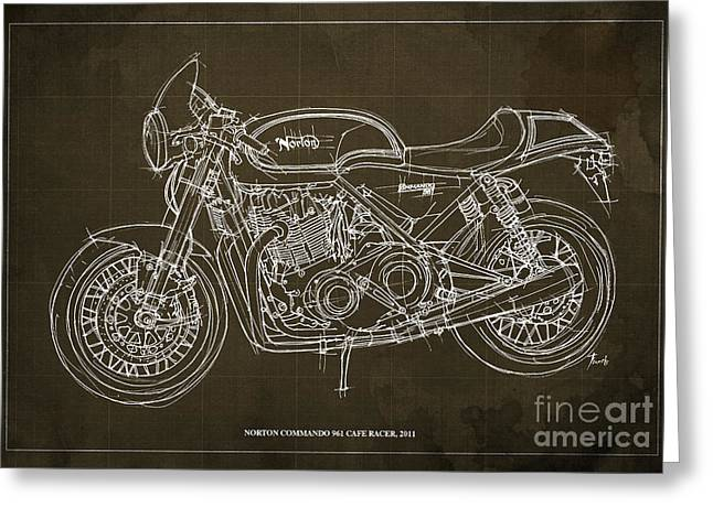 Norton Commando 961 Cafe Racer 2011 Greeting Card by Pablo Franchi