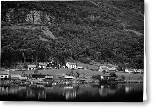 Norwegian Boathouses Greeting Cards - Norwegian Beauty Greeting Card by Mountain Dreams