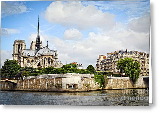Isle Greeting Cards - Notre Dame de Paris Greeting Card by Elena Elisseeva