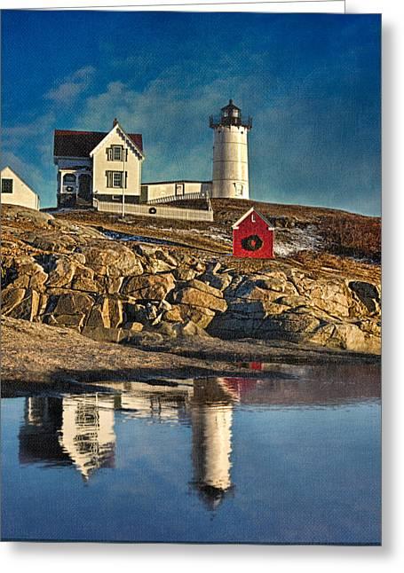 Cape Neddick Greeting Cards - Nubble Lighthouse Greeting Card by Edmund Prescottano