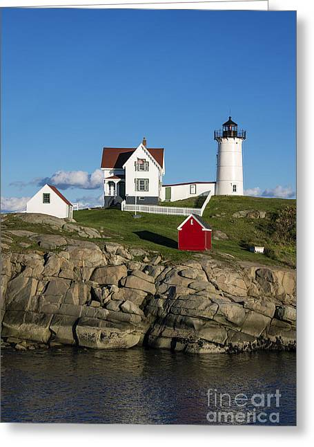 Cape Neddick Lighthouse Greeting Cards - Nubble Lighthouse Greeting Card by John Greim