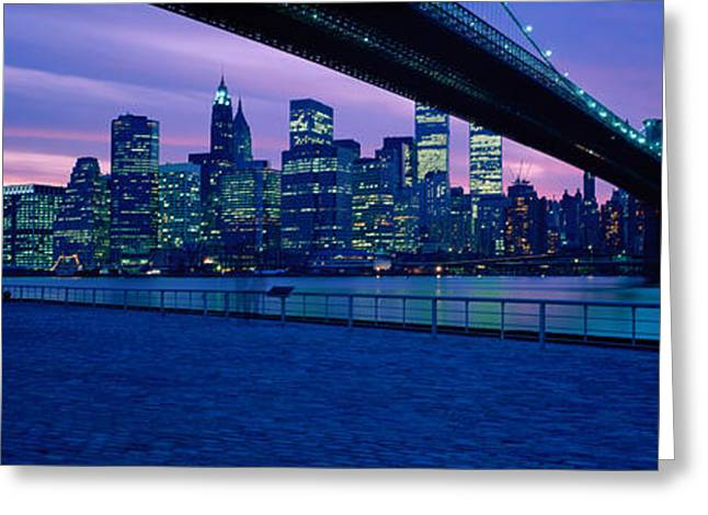 Colorful Photography Greeting Cards - Nyc, New York City New York State, Usa Greeting Card by Panoramic Images