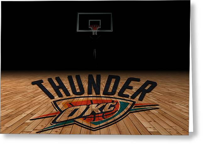 March Greeting Cards - Oklahoma City Thunder Greeting Card by Joe Hamilton