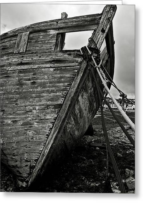 Spoiled Greeting Cards - Old abandoned ship Greeting Card by RicardMN Photography