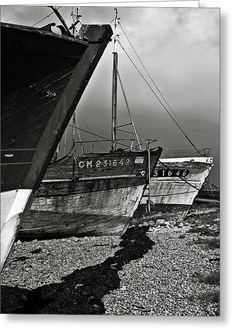 Conditions Greeting Cards - Old abandoned ships Greeting Card by RicardMN Photography