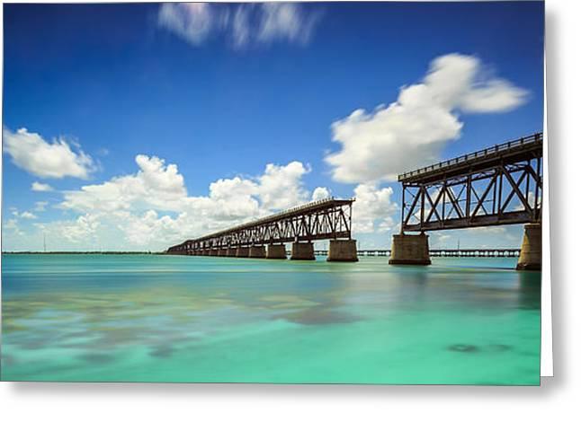 Bahia Honda State Park Greeting Cards - Old Bahia Honda Bridge Florida Keys Greeting Card by H Leschmann