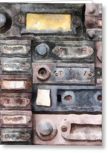 Linked Mixed Media Greeting Cards - Old Doorbells Greeting Card by Michal Boubin