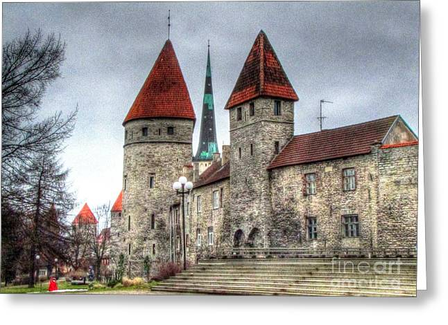Old Pyrography Greeting Cards - Old Tallinn  Greeting Card by Yury Bashkin
