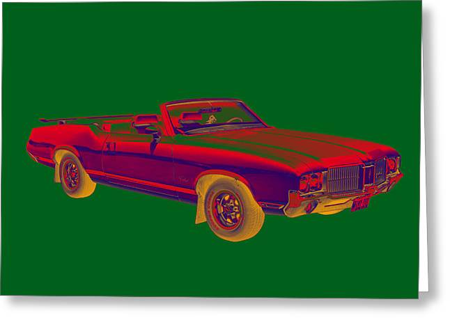 Supremes Greeting Cards - Oldsmobile Cutlass Supreme Muscle Car Greeting Card by Keith Webber Jr