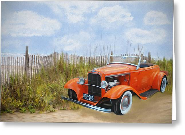 Sand Fences Mixed Media Greeting Cards - On the Beach Greeting Card by Mary Timman