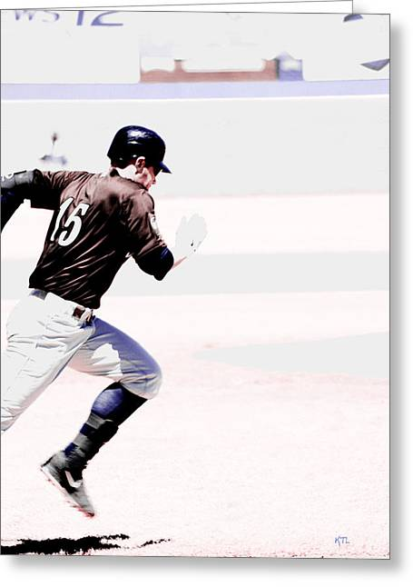 Baseball Bat Greeting Cards - On The Go Greeting Card by Karol  Livote