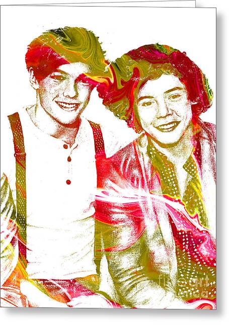 British Celebrities Greeting Cards - One Direction Greeting Card by Michael Braham