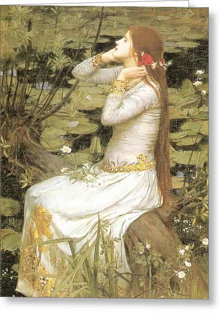 Ophelia Greeting Card by Philip Ralley