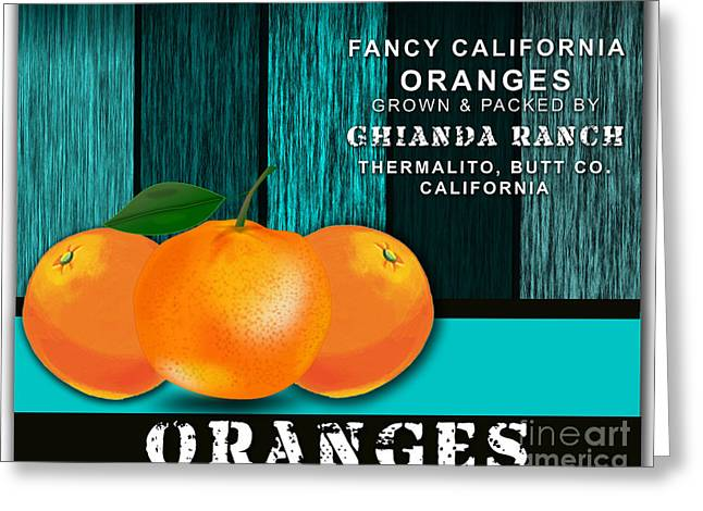 Fruit Greeting Cards - Orange Farm Greeting Card by Marvin Blaine