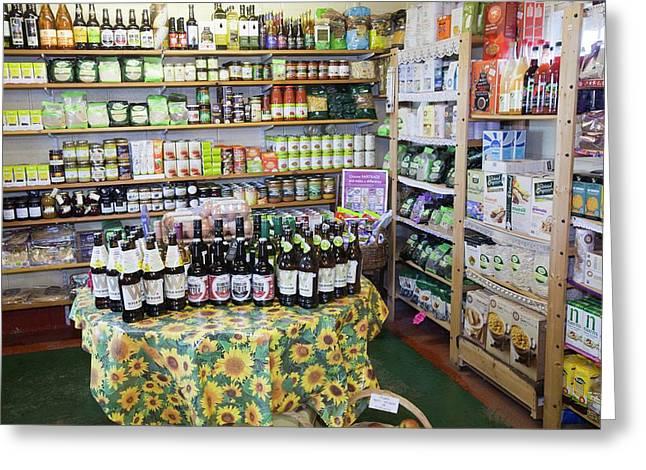 Organic Farm Shop Display Greeting Card by Ashley Cooper
