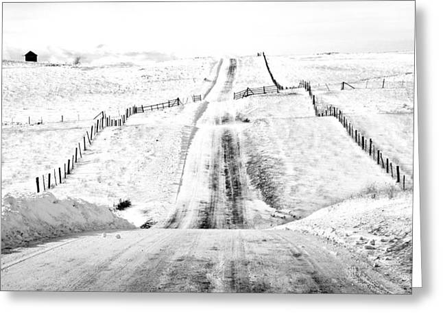 Kamloops Greeting Cards - Over The Hill And Far Away Greeting Card by Theresa Tahara