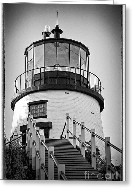 Owls Head Lighthouse Greeting Card by Meagan Charest