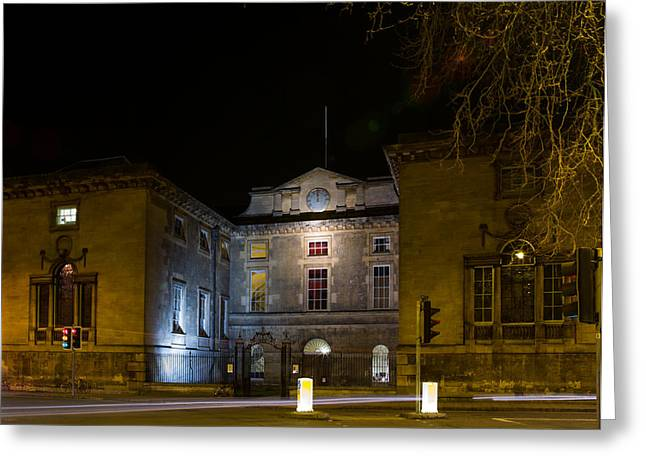 Exeter Hall Greeting Cards - Oxford University Greeting Card by Umar Cheema
