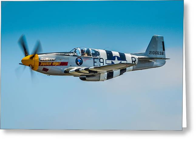 P-51 Mustang Photographs Greeting Cards - P-51 Mustang Greeting Card by Puget  Exposure