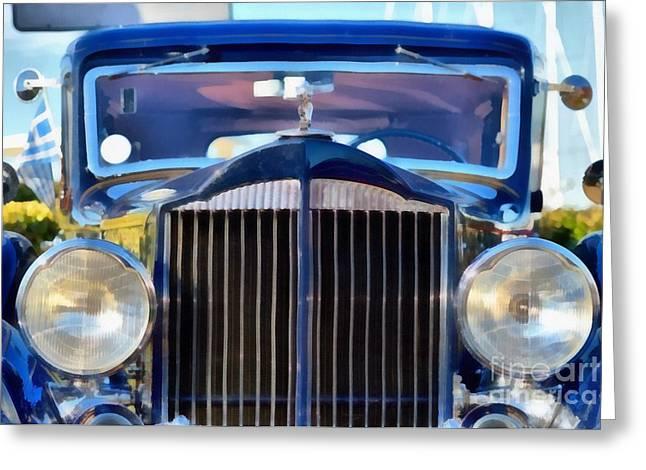 Car Mascot Paintings Greeting Cards - 1933 Packard Super Eight Greeting Card by George Atsametakis