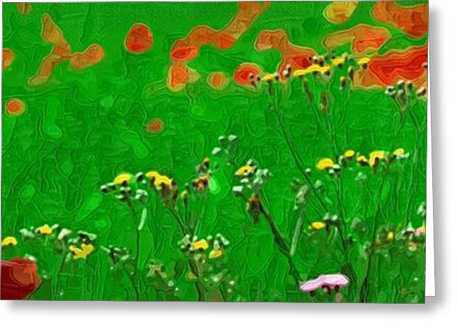 Botanical Greeting Cards - Painting on Flowers Greeting Card by Victor Gladkiy