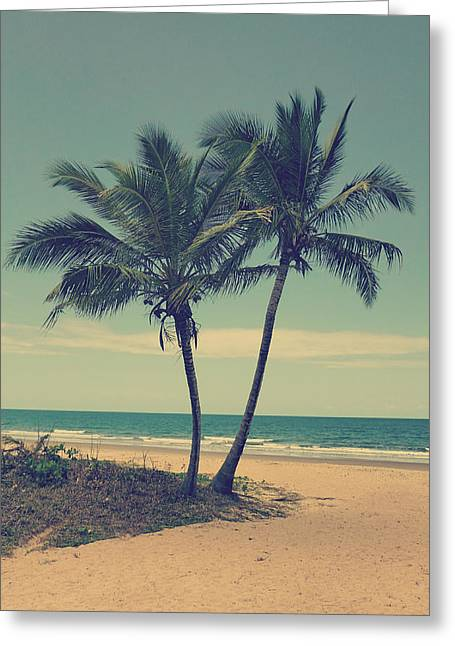 Sand Greeting Cards - Pair of trees Greeting Card by Girish J