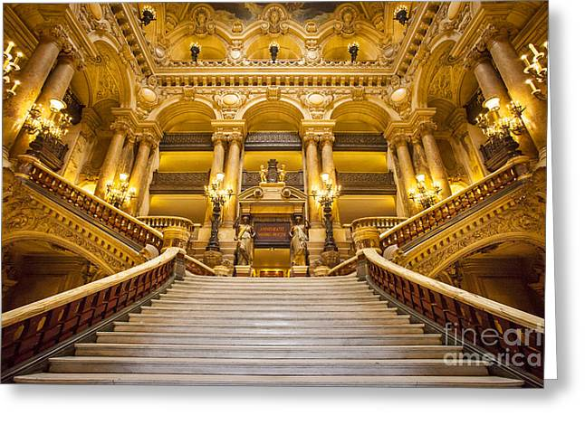 Balusters Greeting Cards - Palais Garnier Greeting Card by Brian Jannsen