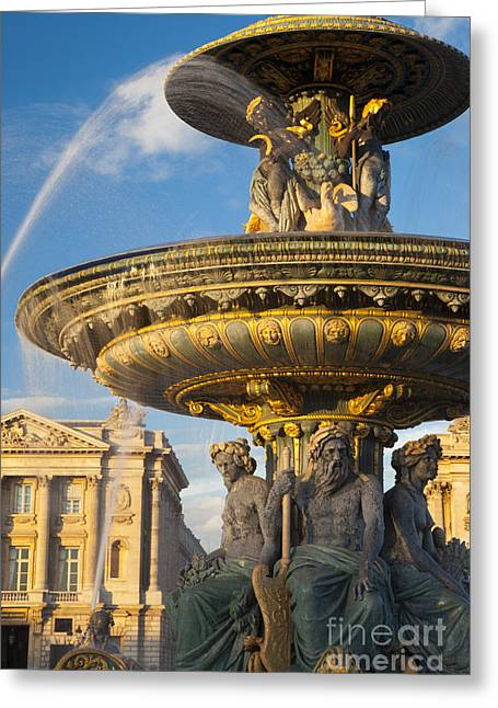 Art Of Building Greeting Cards - Paris Fountain Greeting Card by Brian Jannsen