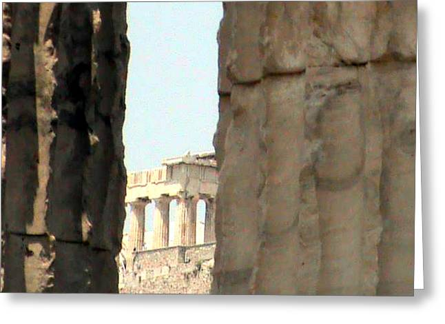 Ancient Sculptures Greeting Cards - Parthenon  Greeting Card by Likourgos Balodimos