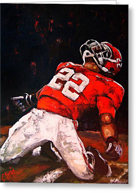Crimson Tide Greeting Cards - Passion and Glory Greeting Card by Carole Foret