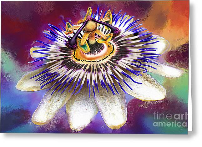 Passionflower Greeting Cards - Passion Greeting Card by Dirk Czarnota