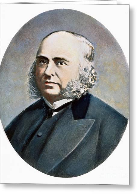 Sideburns Greeting Cards - Paul Broca (1824-1880) Greeting Card by Granger