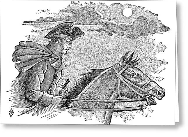 Concord Greeting Cards - Paul Reveres Ride Greeting Card by Granger