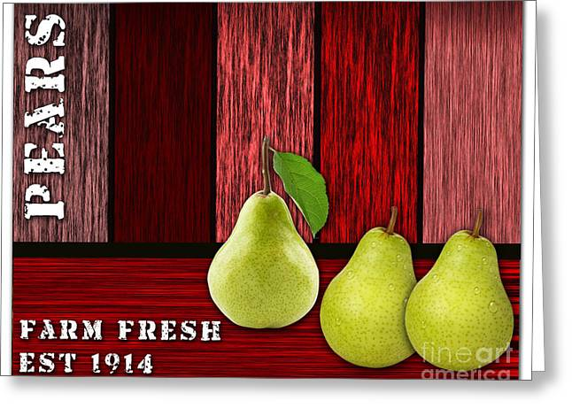 Pears Greeting Cards - Pear Farm Greeting Card by Marvin Blaine