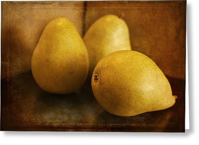 Pears Greeting Card by Maria Angelica Maira