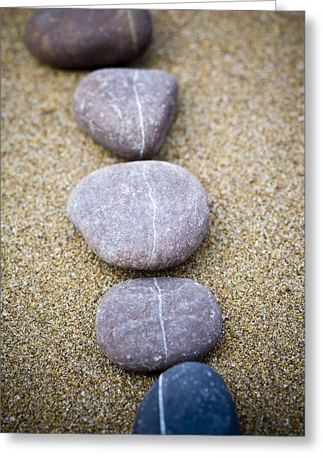 Climbing In Greeting Cards - Pebbles Greeting Card by Frank Tschakert