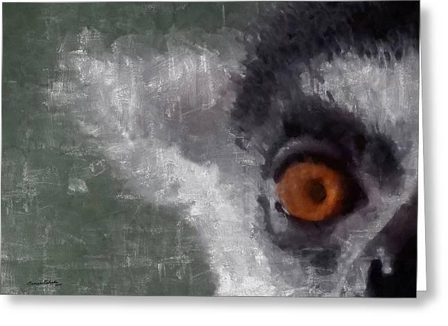 Lemur Greeting Cards - Peek A Boo Greeting Card by Ernie Echols