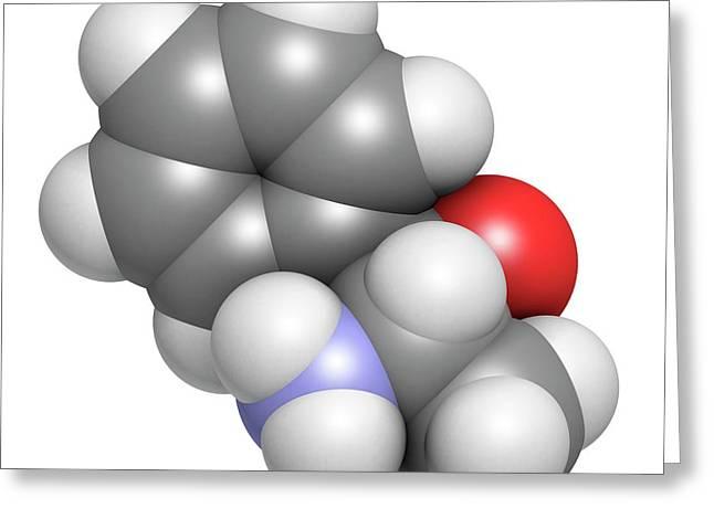 Phenylpropanolamine Drug Molecule Greeting Card by Molekuul